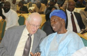 Alhaji Adegboyega Arulogun, right, at a recent state event...