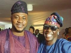 Odunlade Adekola, left, with Ayo Animasaun...at the event...
