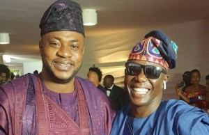 Odunlade Adekola, left, with Ayo Animasaun...at the event...
