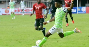 Samuel Kalu in action against Libyan side over the weekend...(dailypost photo)