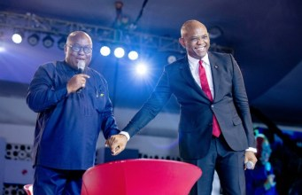 Tony Elumelu, right, at the event...