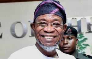 Ex-governor of Osun State, Ogbeni Rauf Aregbesola...