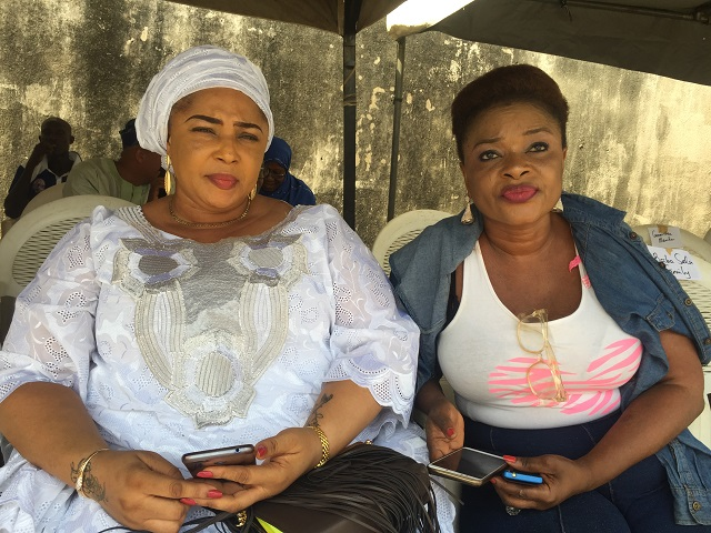 Rose Odika, left, with another popular actress...