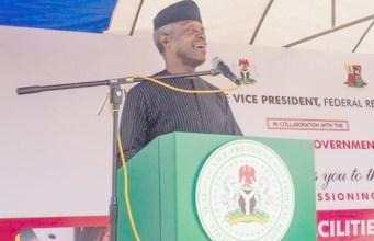 Vice President Yemi Osinbajo...