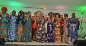 Wives of South West Governors, with others, at the event...