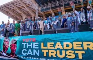 Asiwaju Bola Tinubu and others at the rally...