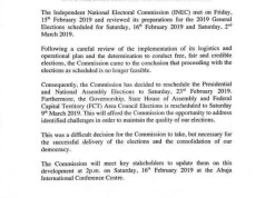 INEC's statement