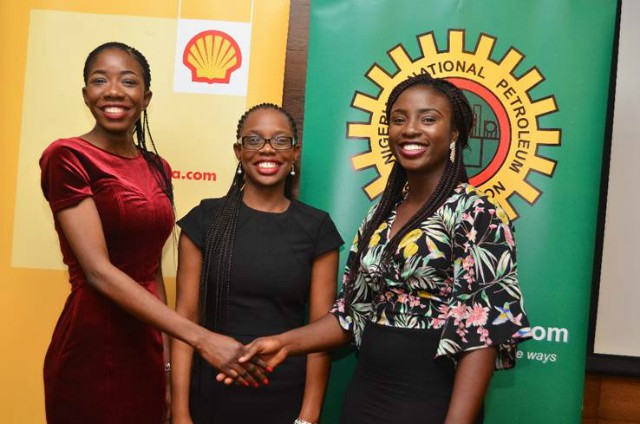 L-R: Oluwapelumi Okewusi; Iwinosa Aghedo and Peace Adepoju, on arrival from a one-year Master's Degree in Geotechnical Engineering and Hydrography on the sponsorship of SNEPCo, in collaboration with the Nigerian Content Development and Monitoring Board (NCDMB) in a programme designed to bolster Nigerian content and develop local capacity in specialised areas in deep offshore oil and gas industry exploration and production...