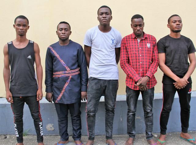L-R: Daniel Effiong, Duru Paul, David Gold, Moses Gold, Eke Kelechi
