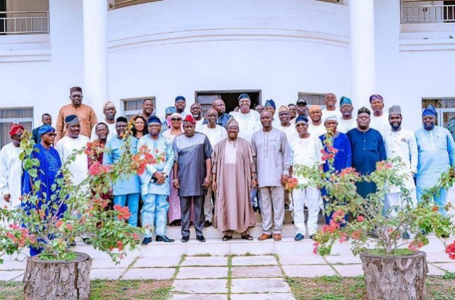 ...group picture including present Exco of Oyo State and the team of the Governor-Elect...