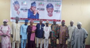 Convener, Awa Bamiji in a group photograph some representatives of the groups…at the event…