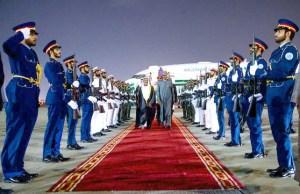 ...President Muhammadu Buhari...on the red carpet on arrival...