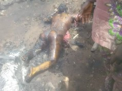 ...one of the victims...burnt to death...in Ibadan...