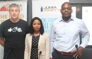 From L to R-Tony Ozanne, CEO at Marathon Restaurant Group Africa (Pizza Hut, Nigeria), Chioma Odimegwu, Head of Marketing and Vendor Success, Jumia Food and Jumia Party Nigeria, Guy Futi, Managing Director, Jumia Food…