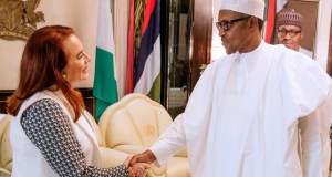 President Buhari…while receiving in audience President of United Nations General Assembly Maria Fernanda Espinaso in State House…
