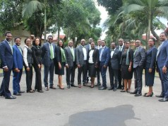 "MD/CEO, Heritage Bank Plc, Ifie Sekibo, Executive Director, Jude Monye and other Management staff and few of the new intakes of Heritage Bank training Institute dubbed ""The Refinery,"" during the ushering of the intakes for 12-week intensive training course in Port Harcourt…"