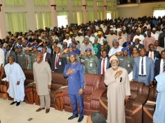 ...the Governors at the Summit...L-R: Dapo Abiodun of Ogun, Gboyega Oyetola of Osun, Kayode Fayemi of Ekiti, Seyi Makinde of Oyo, Oluwatorimi Akeredolu of Ondo and Babajide Sanwo-Olu of Lagos...