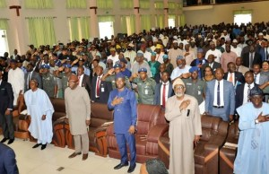 ...the Governors at the Summit...L-R: Dapo Abiodun of Ogun, Gboyega Oyetola of Osun, Kayode Fayemi of Ekiti, Seyi Makinde of Oyo, Oluwatorimi Akeredolu of Ondo and Babajide Sanwo-Olu of Lagos...