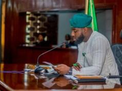 The Speaker of the Oyo State House of Assembly, Rt Hon. Adebo Ogundoyin