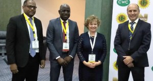 L-R: Managing Director, Shell Nigeria Gas, Ed Ubong; Managing Director, Shell Nigeria Exploration and Production Company, Bayo Ojulari; British High Commissioner to Nigeria, Catriona Laing; and Vice President, Shell Nigeria and Gabon, Peter Costello, at the Conference and Exhibition in Abuja…on Tuesday