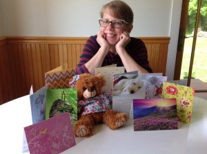 Dani with Cards and Bear April 2016