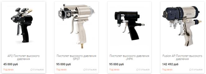 Пистолет для установки высокого давления