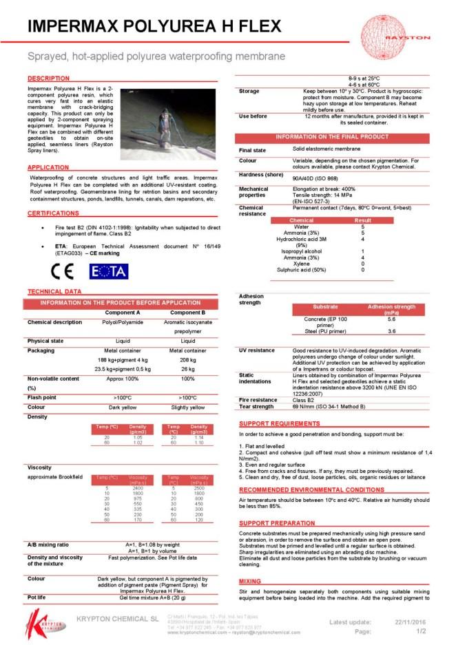 Полимочевина KRYPTON Impermax Polyurea H _Страница_1