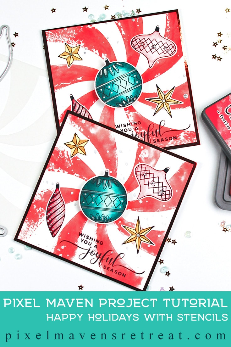 Happy Holidays with Stencils - YT Hop & Giveaway!
