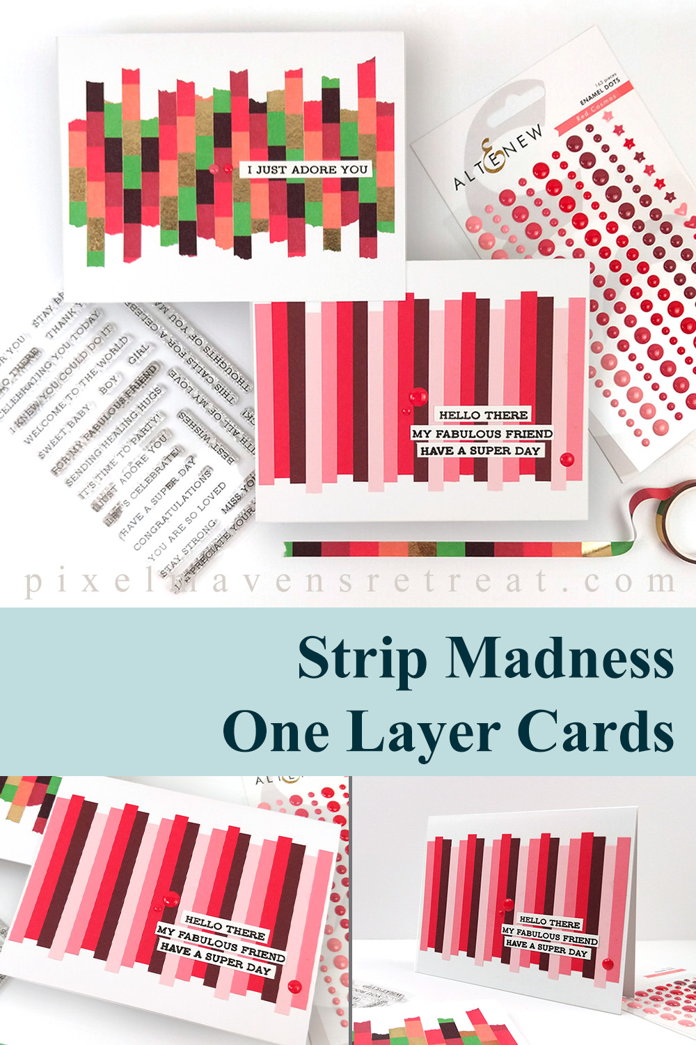 Strip Madness One-Layer Cards | Sketch Starters #009