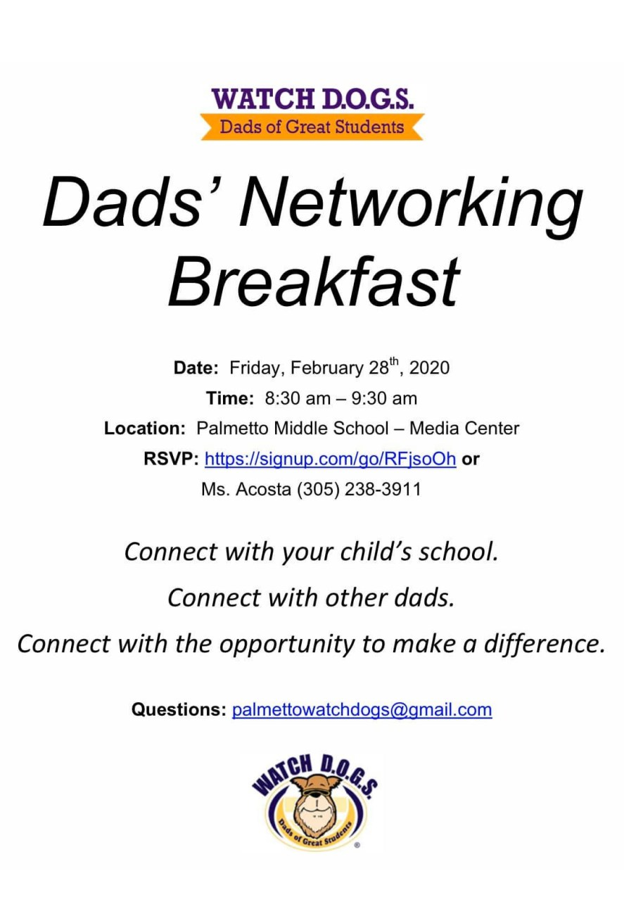 Dads Networking Breakfast Flyer