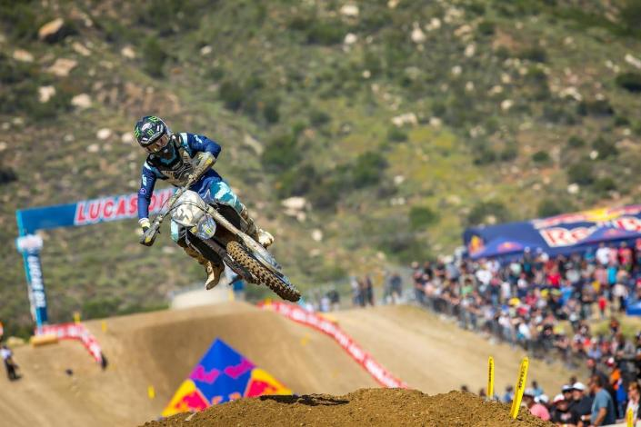Cooper won the first moto and earned a second straight runner-up finish.
