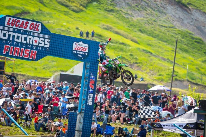 Another second moto win vaulted Cianciarulo to his third straight overall victory.