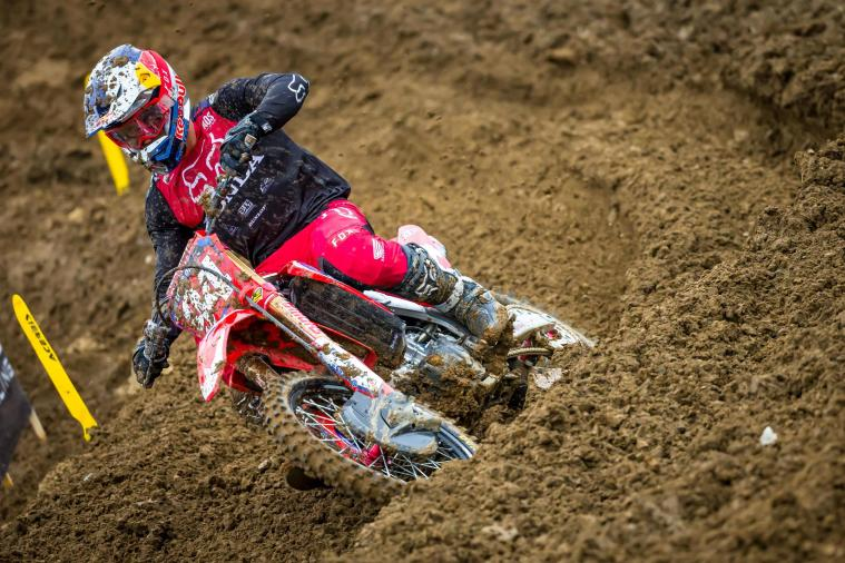 Roczen's 6-1 moto results gave him second overall on the day.