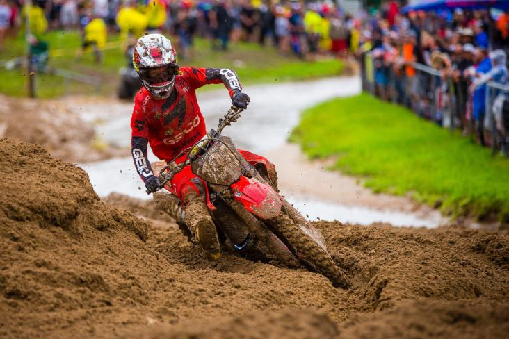 Lawrence parlayed the second moto win of his career into a second overall podium result.