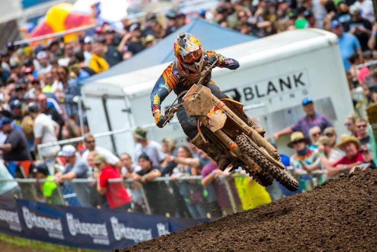 Musquin bounced back from a slow start to finish third overall.