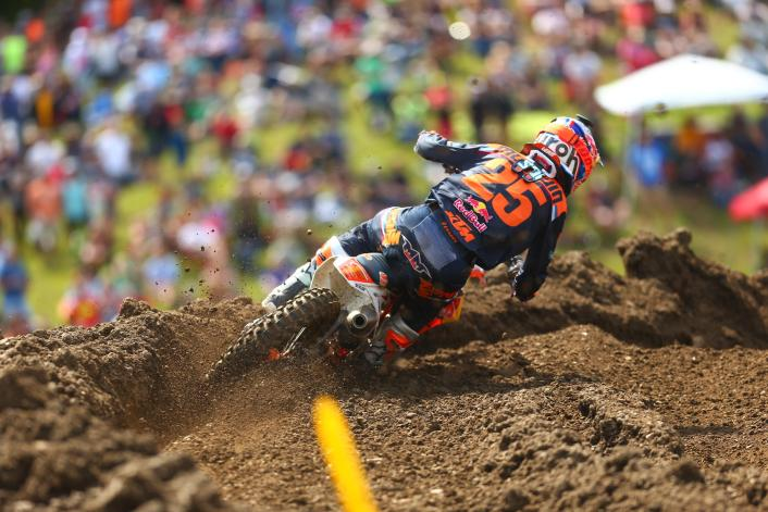 Musquin was in the hunt early and finished second best in class.