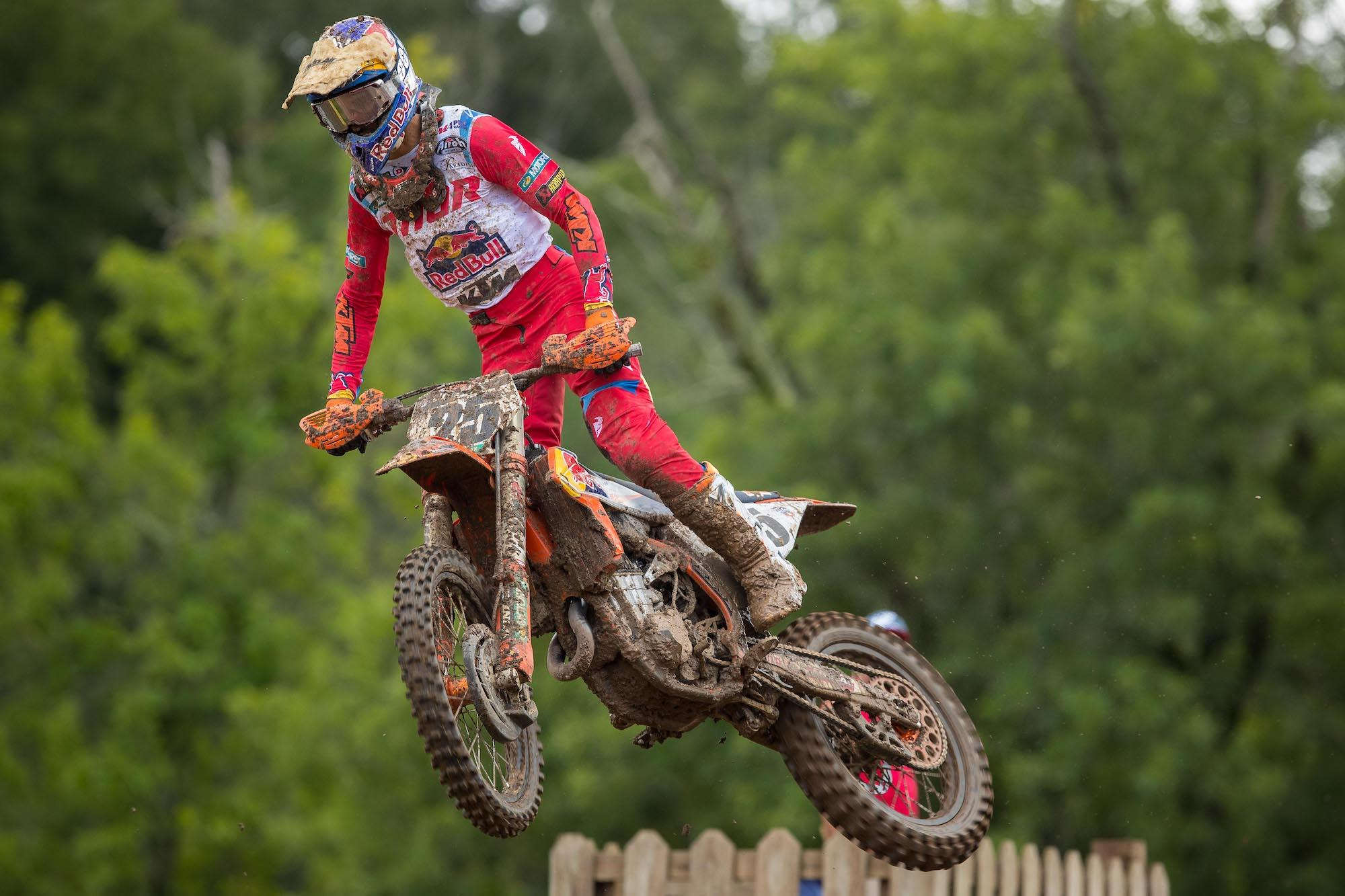 Marvin Musquin rounded out the 450 Class podium in third.