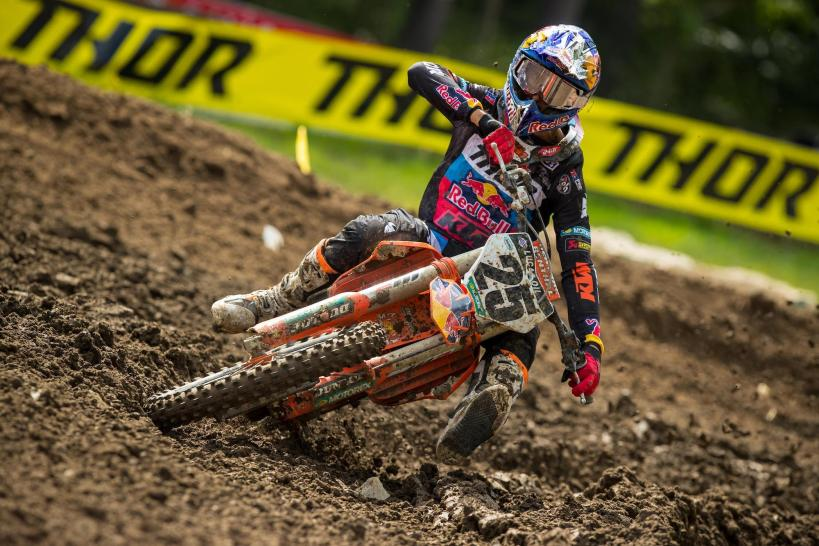 Marvin Musquin earned his first moto win of the season en route to second overall.