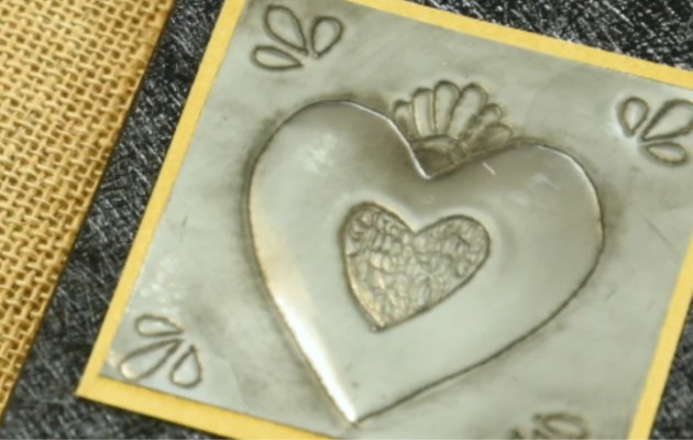 Pewter Heart Journal by Sandy Griffiths from Sandy Craft Studio