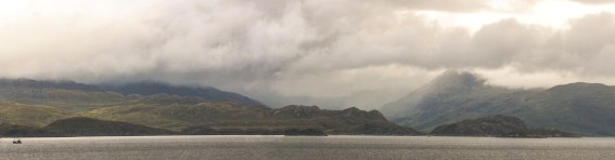 Panorama taken on the boat from Mallaig to Armadale