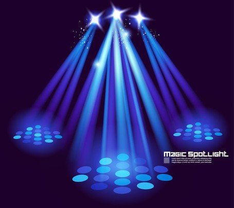 stage lighting effects 03 clip art free