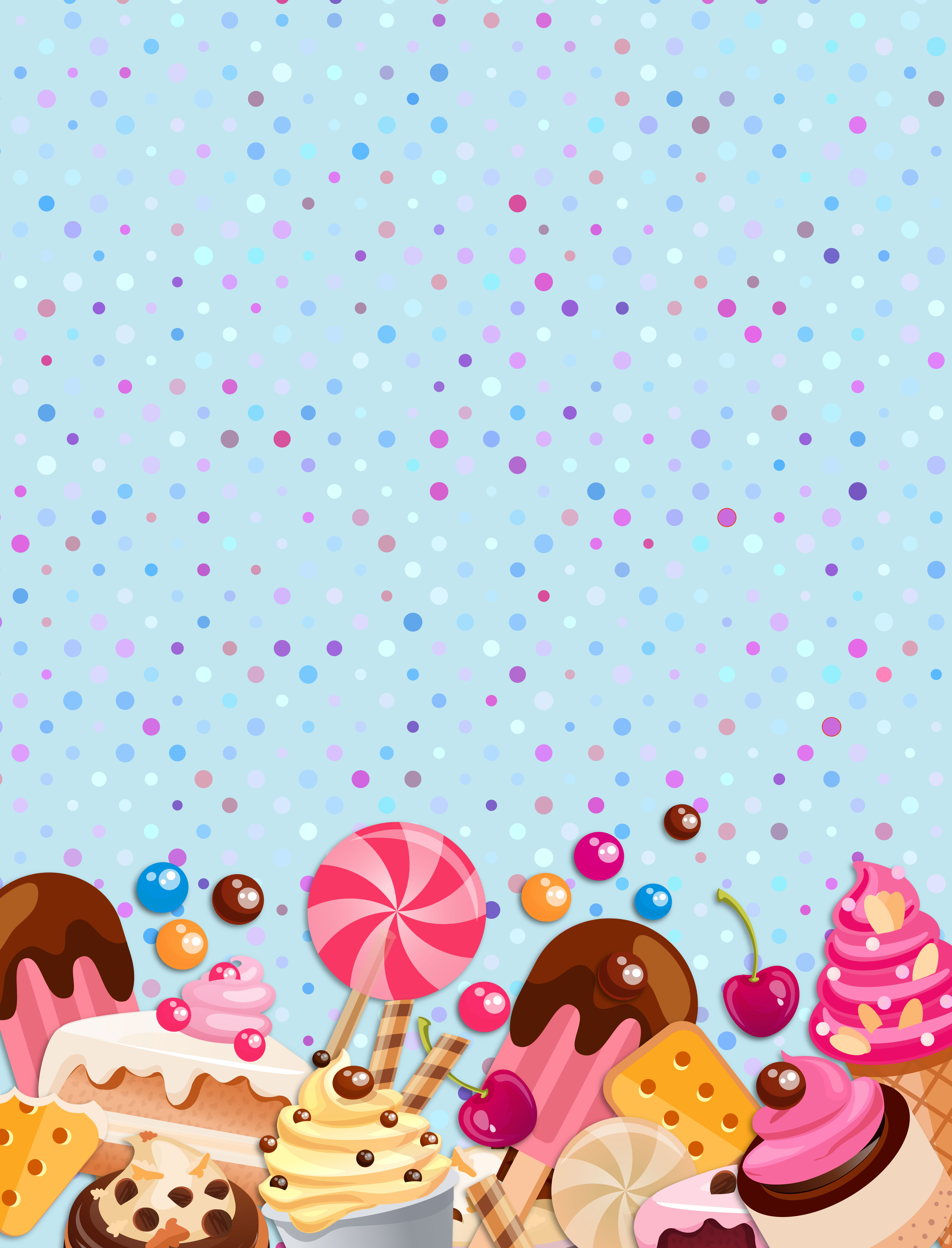 Vector Cartoon Fantasy Candy Background Cartoon Dream Child Background Image For Free Download