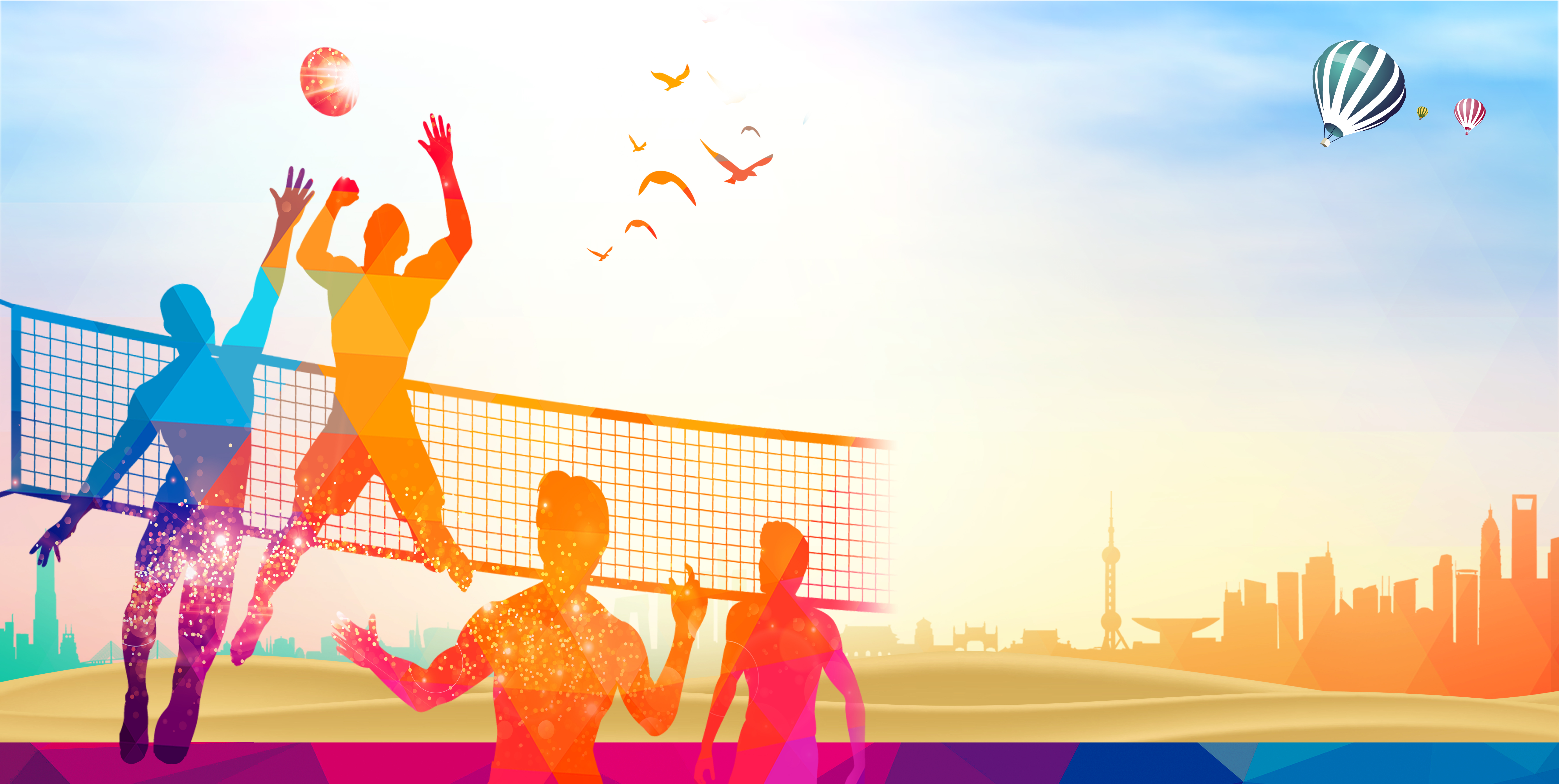 Volleyball Match Posters Background Volleyball Game