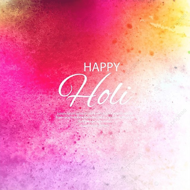 Illustration Of Colorful Happy Holi Background For Festival Of Colors Celebration Abstract