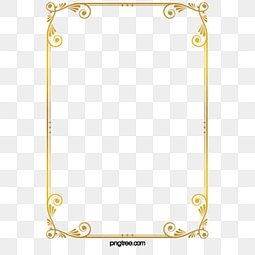 Golden Frame PNG Images Vectors And PSD Files Free