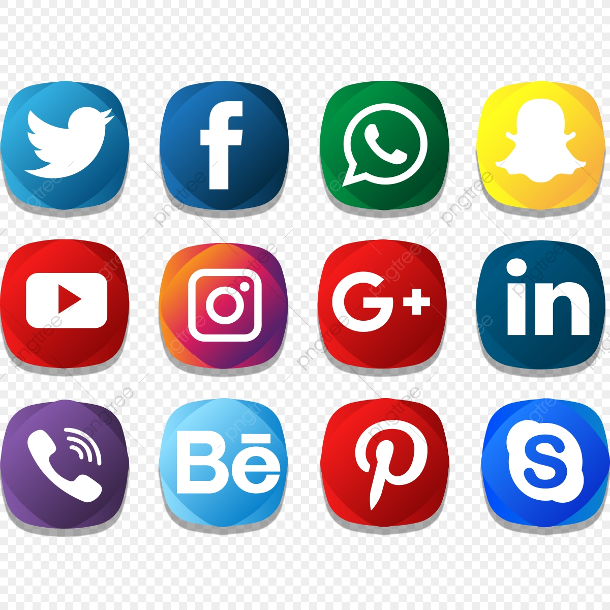 Social Icon Creative Color Pack Social Media Icons Social Media Social Media Logo Png And Vector With Transparent Background For Free Download