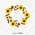 Sunflower Garland Sunflower Vector Wreath Sunflower Png Transparent Clipart Image And Psd File For Free Download