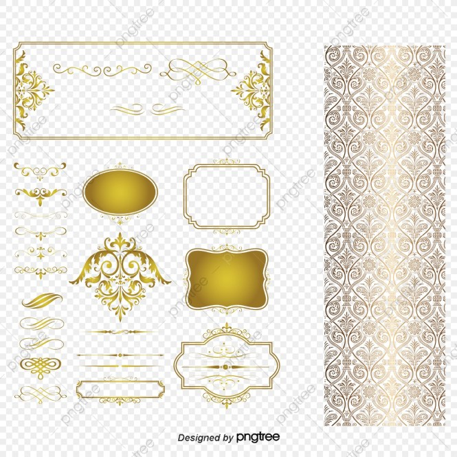 Vector European Style Wedding Invitation Design Elements