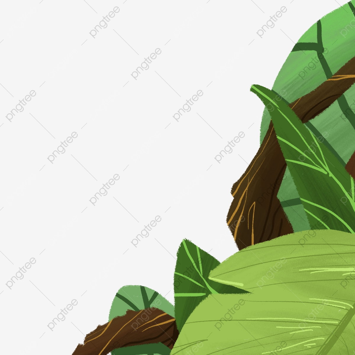 Set of cartoon forest animals and plants, clipart commercial use, clipart animal, doodle svg, image svg, forest clipart, plants clipart. Cartoon Big Forest Free Illustration Green Forest Plants Leaves Png Transparent Clipart Image And Psd File For Free Download