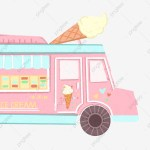 Ice Cream Car Car Clipart Pink Ice Cream Truck Png Transparent Clipart Image And Psd File For Free Download